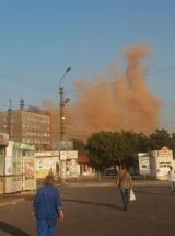 Город Каменское окутал ядовитый рыжий дым