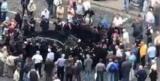 Porsche Panamera въехал в толпу пенсионеров МВД напротив Кабмина