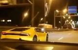 В России мажоры на Lamborghini и Ferrari устроили уличные гонки