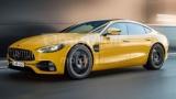 Появились первые рендеры седана Mercedes-AMG GT